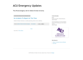 emergency.acu.edu