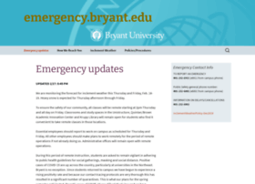 emergency.bryant.edu