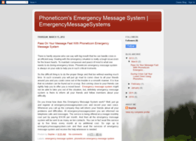 emergencymessagesystem.blogspot.com