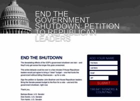 endtheshutdown.org