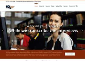 eqtranscriptionservices.co.uk
