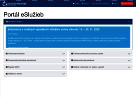 esluzby.socpoist.sk