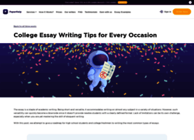 Essay Writing Samples Examples