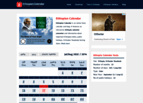 Ethiopian calendar converter websites and posts on ethiopian calendar