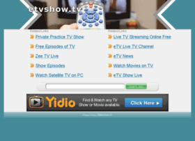 Etvshow TV Live