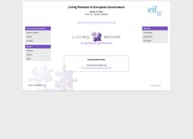 europeangovernance.livingreviews.org