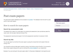 exampapers.bham.ac.uk