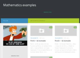 examples.mathematicsi.com