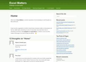 excelmatters.com