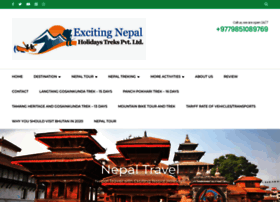 excitingnepalholidays.com
