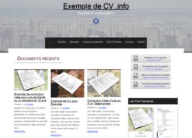 exempledecv.info