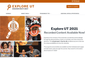 exploreut.utexas.edu