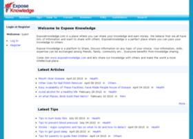 exposeknowledge.com