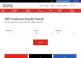 faculty.mdanderson.org