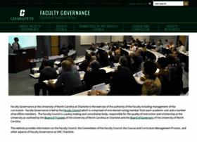 facultygovernance.uncc.edu