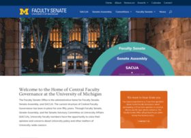 facultysenate.umich.edu