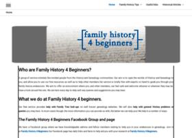 familyhistory4beginners.com