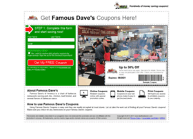 famousdaves.fastfoodsaver.com