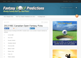 fantasygolfpredictions.com