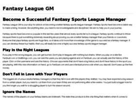 fantasyleaguegm.com