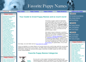 favorite-puppy-names.com