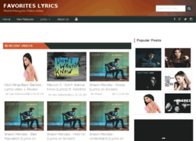 favoriteslyrics.ga