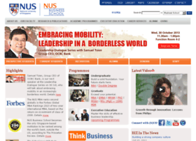 Fba Nus Edu Sg National University Of Singapore Business School