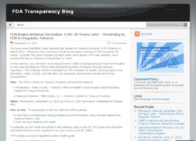 fdatransparencyblog.fda.gov
