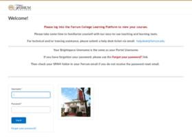 ferrum.desire2learn.com
