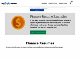 finance.myperfectresume.com