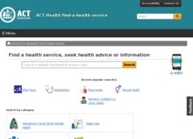 findahealthservice.act.gov.au