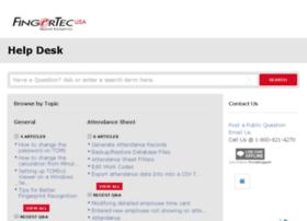 fingertecusa.desk.com