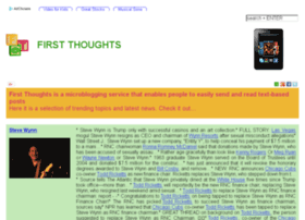 first-thoughts.org