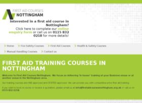 firstaidcoursesnottingham.org.uk