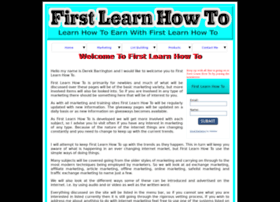 firstlearnhowto.com