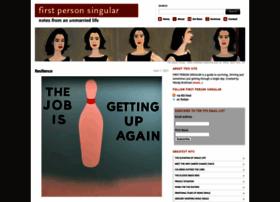 firstpersonsingular.org