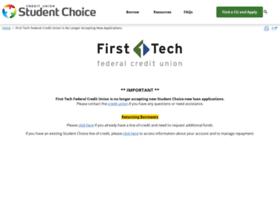 Firsttechfed.studentchoice.org