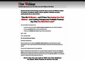firstwebinar.com