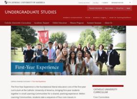 firstyear.cua.edu