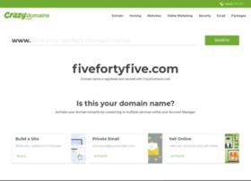fivefortyfive.com