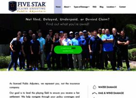 fivestarclaimsadjusting.com