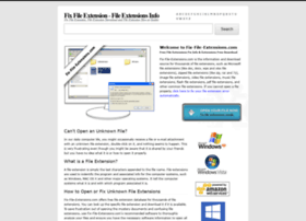 Fix-file-extensions.com