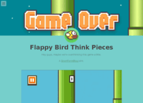 flappybirdthinkpieces.tumblr.com
