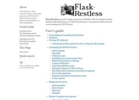 flask-restless.readthedocs.org