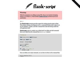 flask-script.readthedocs.org