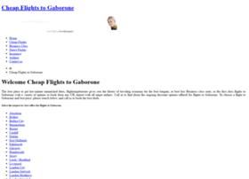 flightstogaborone.com