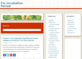 fluincubationperiod.info