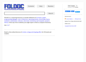 foldoc.org