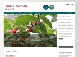 foodandnutritionresearch.net