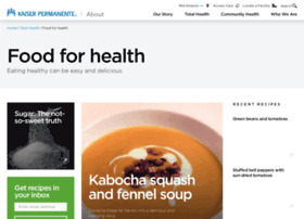 foodforhealth.kaiserpermanente.org